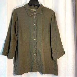Flax Button Up Blouse